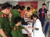 Công an Quận 3 tham gia hiến máu nhân đạo