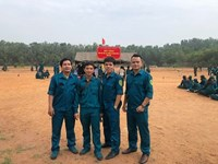 Trung đội dân quân tự vệ Trường THPT Nguyễn Thị Minh Khai tham gia Hội thao Quốc phòng, thể dục thể thao Quận 3 năm 2020