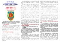 Tờ rơi và tài liệu tuyên truyền về Thừa phát lại theo Nghị định số 08 2020 NĐ-CP của Chính phủ trên địa bàn Thành phố Hồ Chí Minh