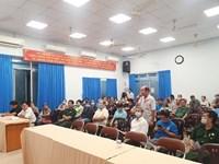 Hội nghị tiếp xúc, đối thoại giữa người đứng đầu cấp ủy, chính quyền với hội viên Cựu chiến binh và phụ nữ