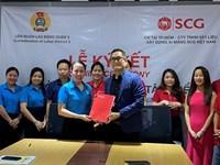 Ký kết thỏa ước lao động tập thể tại Công ty TNHH Vật liệu xây dựng xi măng SCG Việt Nam