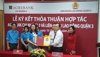 Liên đoàn Lao động Quận 3 ký kết thỏa thuận hợp tác với Ngân hàng Aribank chi nhánh 3