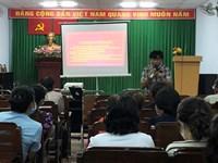 Phường 3 tổ chức chương trình tập huấn cho thành viên Tổ giám sát và tuyên truyền phòng, chống dịch COVID-19 tại cộng đồng