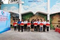 Đoàn phường Võ Thị Sáu thực hiện công trình Tranh tường bích họa