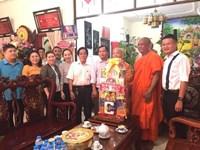 Phường 10 Thăm và chúc tết cổ truyền Chol Chnam Thmay