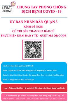HƯỚNG DẪN KHAI BÁO Y TẾ TRƯỚC THỜI ĐIỂM THAM GIA BẦU CỬ Cập nhật mã QR Code mới nhất