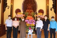 Lãnh đạo quận 3 chúc mừng Đại lễ Phật đản PL 2565-DL 2021