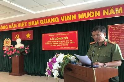 Công an Quận 3 – Công bố quyết định thành lập Chi bộ Cảnh sát PCCC CNCH